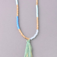 Drop On In Necklace-Mint
