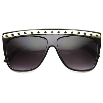 Womens Spiked Blogger Fashion Flat Top Sunglasses 8931
