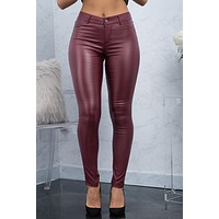 Eva Pants - Dark Burgundy