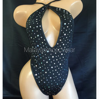 READY TO SHIP Exotic Dancewear Thong Romper Stripper Model Dancer