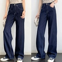 2020 autumn and winter women's new loose high waist straight trousers