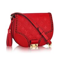 Louis Vuitton Monogram Empreinte Junot Shoulder Cross Body Handbag Cherry Article:M43144 Made in France