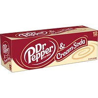 Dr Pepper & Cream Soda 12 Pack Cans