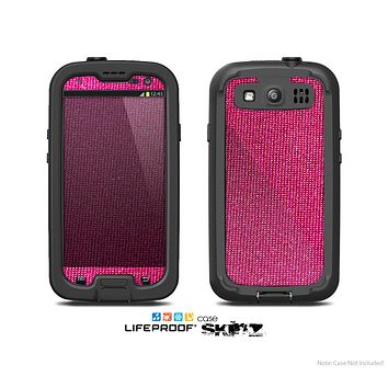 The Pink Fabric Skin For The Samsung Galaxy S3 LifeProof Case