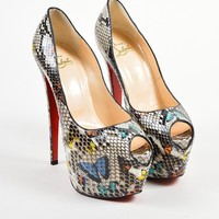 DCCK2 Christian Louboutin Multicolor Snakeskin   Highness 160   Pumps