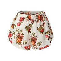 Lightweight  Floral Print Loose Beach Short (CLEARANCE)