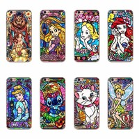 Pretty White Snow Rapunzel Arielle Mermaid Princess Cartoon Cat Mickey Phone Case For iPhone 6 7 Plus 5 5S SE Silicone Covers