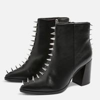 Hex Studded Boots   Topshop