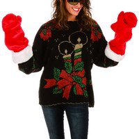 C'mon Baby Light My Fire Ugly Christmas Sweater