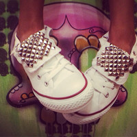 Studded Converse All Stars - Custom Chuck Taylors - ALL SIZES & COLORS!