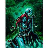 Jack Skellington and Sally Art Print