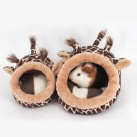 Guinea Pig Chinchillas Squirrel Bed Nest Hamster House Cage Accessories Mini Animals Hamster Bed Pink Leopard
