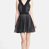 Robert Rodriguez Zebra Stripe Lace Dress