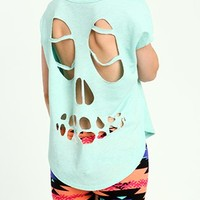 Skull Back Cut Out Tee from CherryKreations21