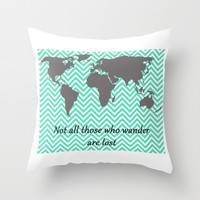Not all those who wander are lost. Inspirational Quote Throw Pillow by Livin' Freely