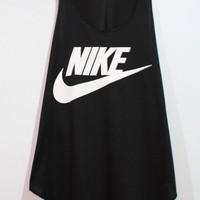 Nike Tank Top Minimal Fitness Sport Clothing Black Workout Shirt Beach Summer T-Shirt Woman BUY 2 GET 1 FREE
