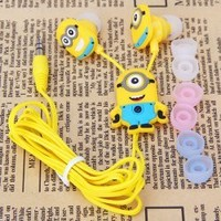 Music Lover Gifts : Animation Movie Despicable Me 2 Minion Stuart & Dave 3.5mm In-Ear Headphone Earphone Earpods Headset for iPhone, Android, Windows Phone, MP3, MP4, iPod, iPad by Wealthy Enterprise®