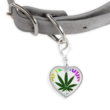 afternoon_delight_rainbow Small Heart Pet Tag
