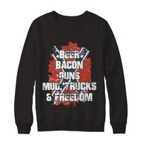 Beer Bacon Guns Mud Trucks Freedom Redneck T-Shirt Unisex