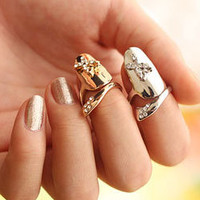 Butterfly Fingernail Tip Ring - Silver Or Gold