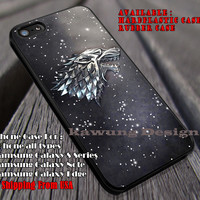 Winter Wolf | Stark Dire | Game of Thrones iPhone 6s 6 6s+ 6plus Cases Samsung Galaxy s5 s6 Edge+ NOTE 5 4 3 #movie #gameofthrones ii