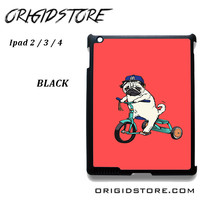 Pug Bicycle For Ipad 2 Ipad 3 Ipad 4 Case Please Make Sure Your Device With Message Case UY