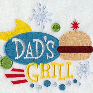 Dad's Grill BBQ Apron Father's Day Gift, Birthday Gift, Host Gift