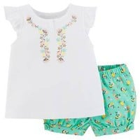 Just One You™Made by Carter's® Baby Girls' 2 Piece Ruffle Top Set - White/Green Floral : Target