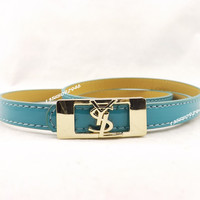 Perfect YSL Woman Fashion Smooth Buckle Belt Leather Belt