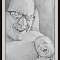 Custom Pencil Portrait Commission - Custom portrait drawing - Personalized Art - Drawing from Photo - Pencil Sketch - Family Portrait