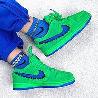 Nike SB Dunk Low Pro X Grateful Dead new couple green embroidered low-top sneakers Shoes
