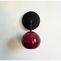 Loa Sconce with Black Cherry Shade