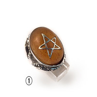 Vintage Magician's Star Classic Angel Heart Ring