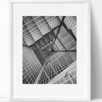 Stairway Wall Art Photography, Black and White Modern Art, Prints