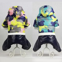 Winter Dog Clothes Thickening Coat Camouflage Padded Jacket Pet Dogs Clothes For Small Dog Warm Chihuahua Puppy Outfit 39S2