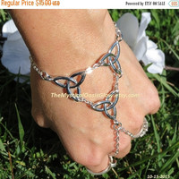 Celtic Jewelry, Celtic Hand Chain, Celtic Knot Bracelet, Infinity Bracelet, Celtic Ring Celtic Knot Ring Slave Bracelet Celtic Irish Jewelry