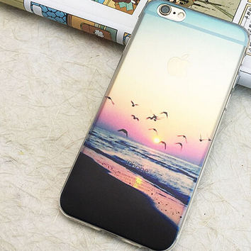 Cute Beautiful Seagull  iPhone  8 7 7Plus & iPhone 6s 6 Plus Case +Gift Box