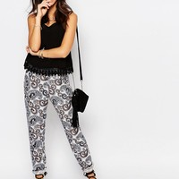 J.D.Y Border Paisley Print Relaxed Trousers
