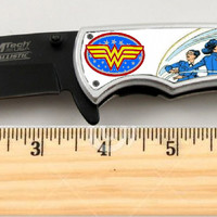 """Wonder Woman Limited Edition Spring Assisted Knife 4.5"""" when closed"""