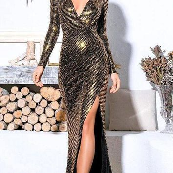 Bloom Sequin Luxe Gown