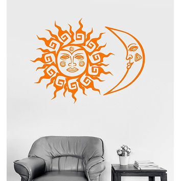 Vinyl Wall Decal Sun and Moon Fantastic Bedroom Room Decoration Art Stickers Unique Gift (ig3037)