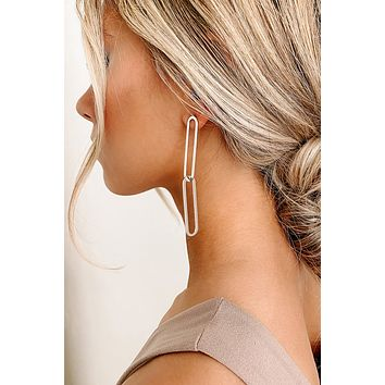 Holding Things Together Dangle Earrings (Silver)