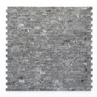 Solistone Modern Madrid 12 in. x 12 in. x 9.5 mm Marble Natural Stone Mesh-Mounted Mosaic Wall Tile (10 sq. ft. / case)-4027 - The Home Depot