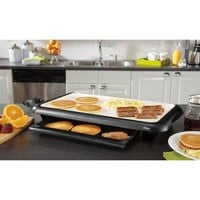 Ceramic Electric Nonstick  Griddle with Warming Tray