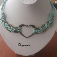 Micromacrame  Necklace / free shipping
