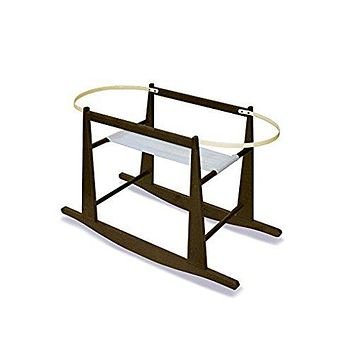 Jolly Jumper Rocking Moses Basket Stand, Expresso
