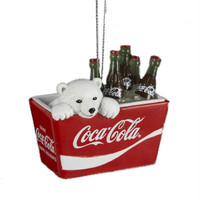 Christmas Ornament - Polar Bear In Coca-cola Cooler
