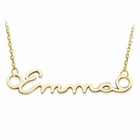 Gold-Plated Sterling Silver 1 Name Signature Plate