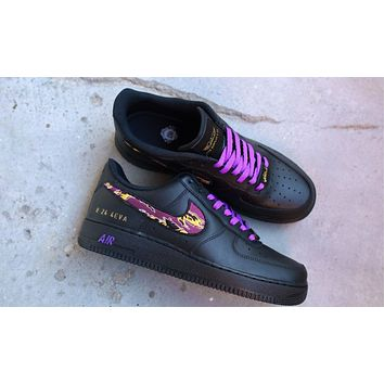Mamba Fury Air Force 1 pays tribute to Kobe Bryant casual sneakers shoes