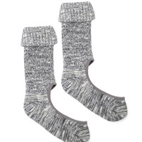 Marled Cutout-Top Socks